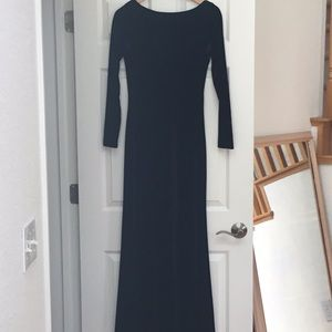 Ralph Lauren Black Velvet Dress S